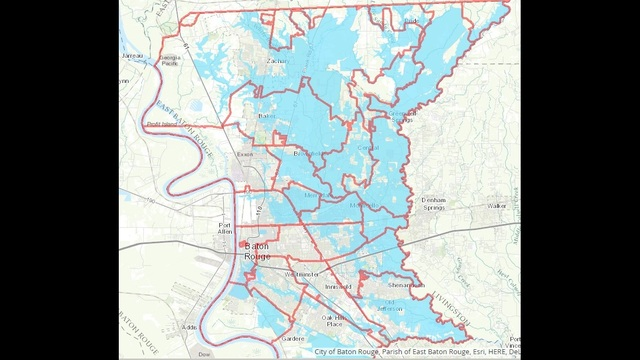 City of Baton Rouge release flood inundation maps with new number