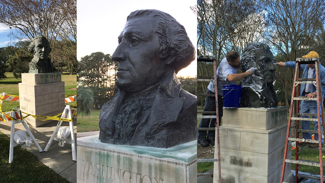 Preservationists restore Baton Rouge monument