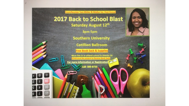 Councilwoman and local business to host Back to School Blast