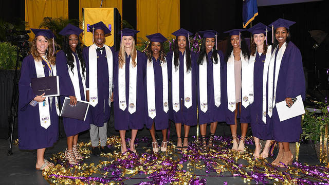 24 student-athletes graduate from LSU