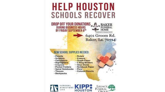 Donations being accepted in Baker for Hurricane Harvey victims