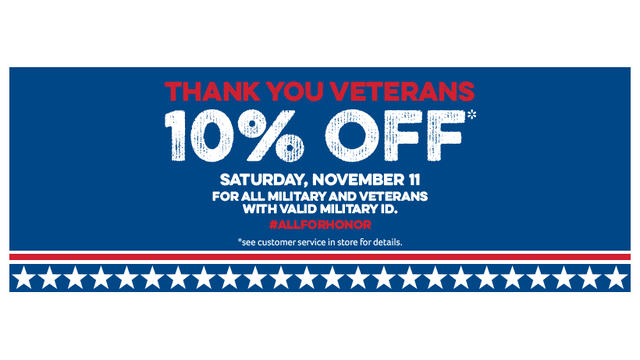Winn-Dixie offering 10% off qualifying groceries on Veteran's Day