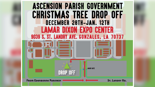 Ascension Parish Christmas tree drop-off information