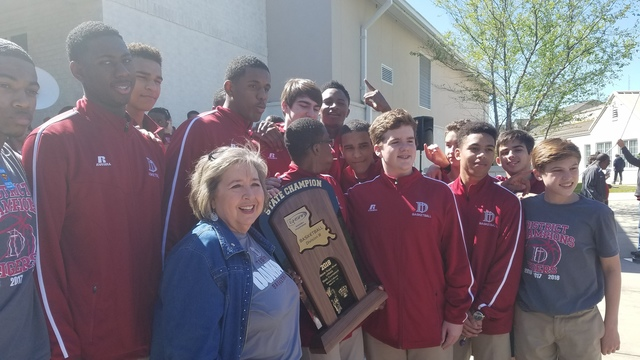 The Dunham School celebrated State Championship on Monday afternoon
