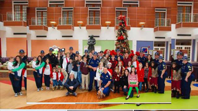Louisiana State Police deliver gifts to hospitalized children on Christmas Eve