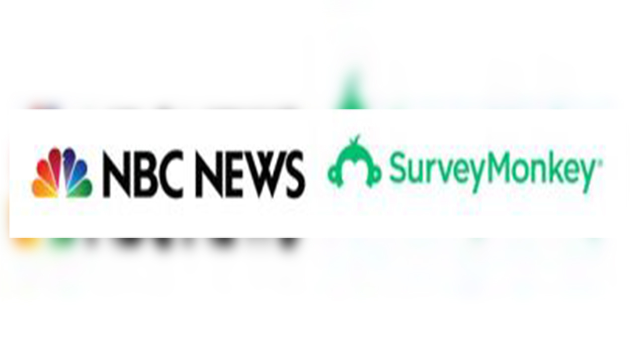 nbc news survey monkey released online poll about usa president trump metoo and gun control