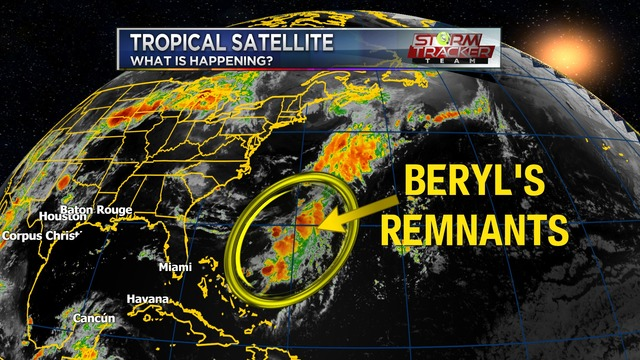 Watching Beryl's remnants & the tropics