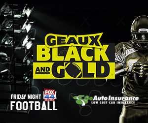 Geaux Black and Gold is sponsred by Go Auto Insurance