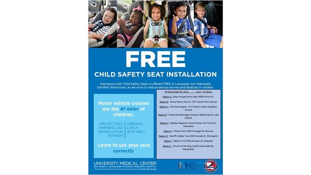 First Responders To Install And Disperse Child Safety Seats Saturday
