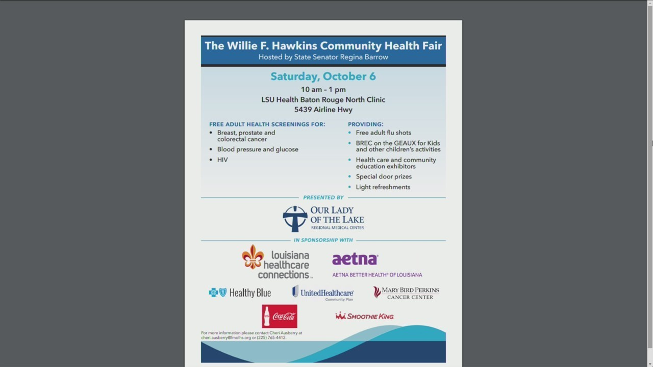 FREE health screenings offered this weekend at community