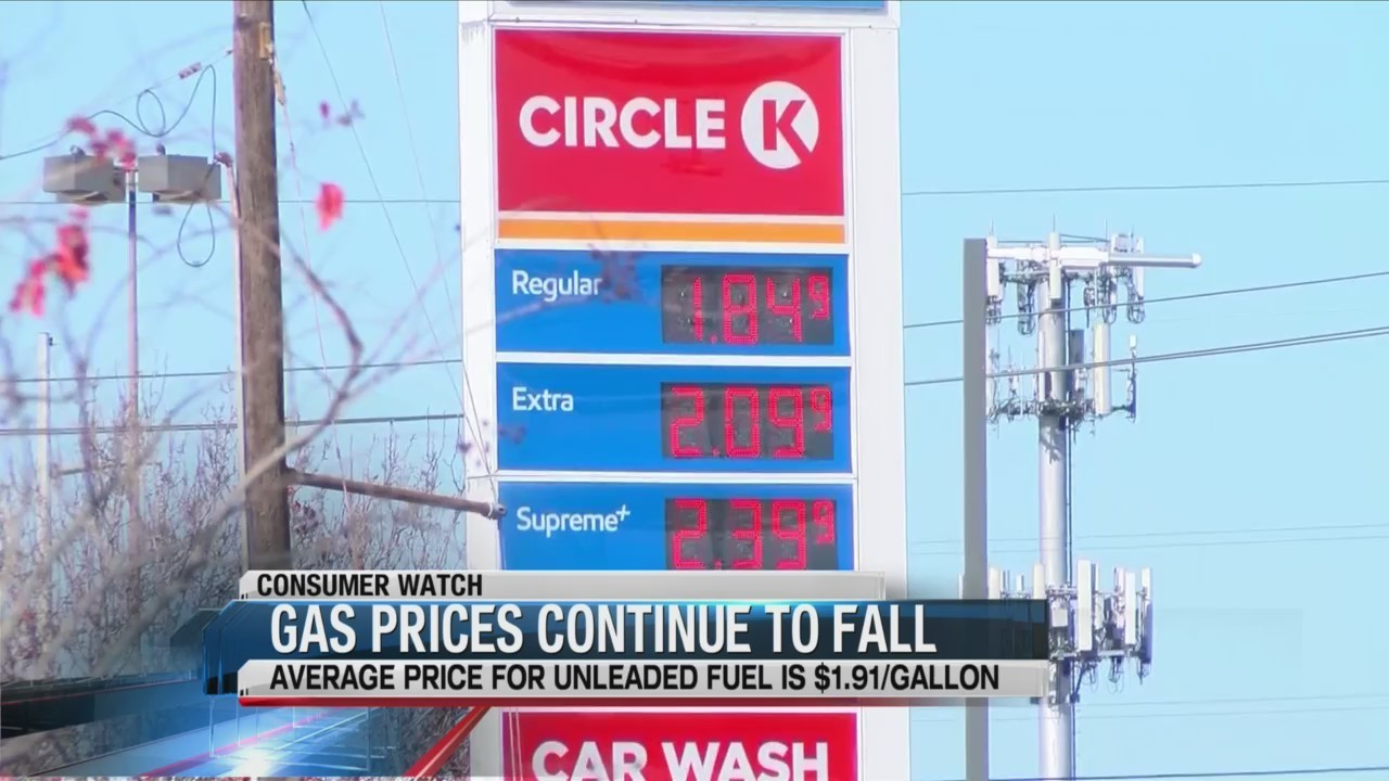 GOOD NEWS: Gas prices continue to fall