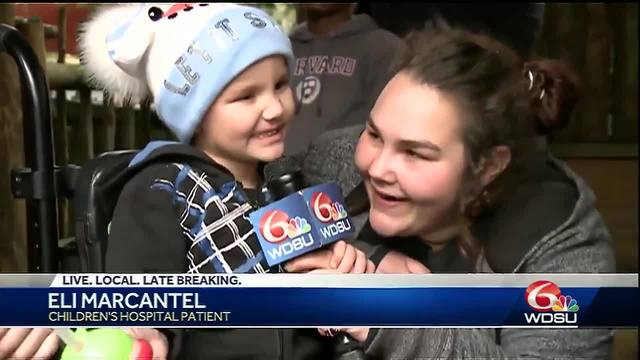 WATCH: Children's Hospital patients get special visit to Audubon Zoo