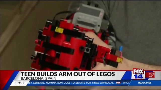 WATCH: Teen builds robotic arm from legos